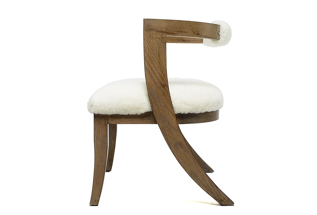 Pleasant Barrel Back Klismos Style Dining Chair Mecox Gardens Inzonedesignstudio Interior Chair Design Inzonedesignstudiocom
