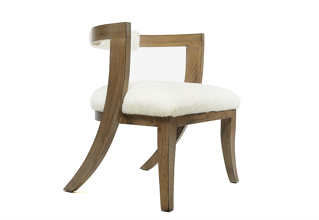 Barrel Back Klismos Style Dining Chair
