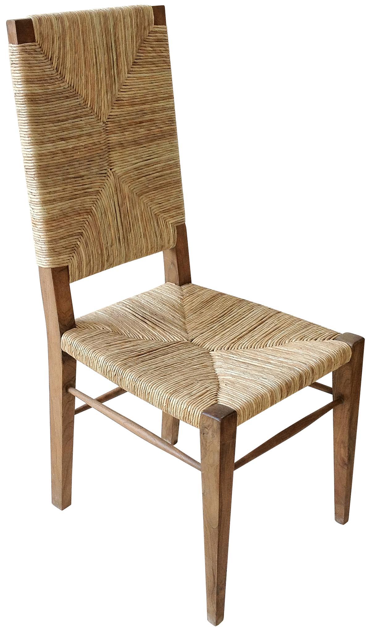 Etonnant Large Stewart Teak And Seagrass Dining Chair