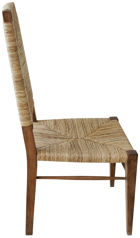 Super Large Stewart Teak And Seagrass Dining Chair Mecox Gardens Short Links Chair Design For Home Short Linksinfo