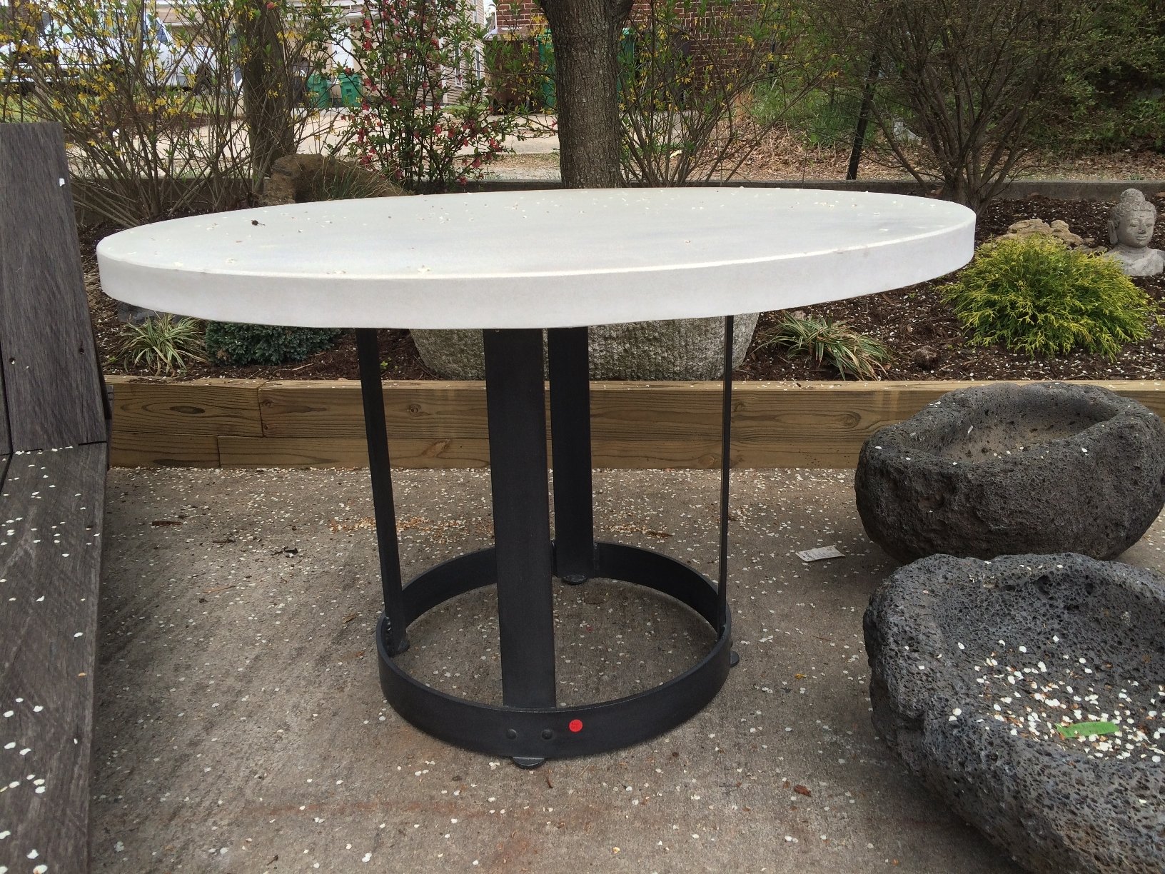 Diy Round Outdoor Table Unavailable Round Concrete And Metal