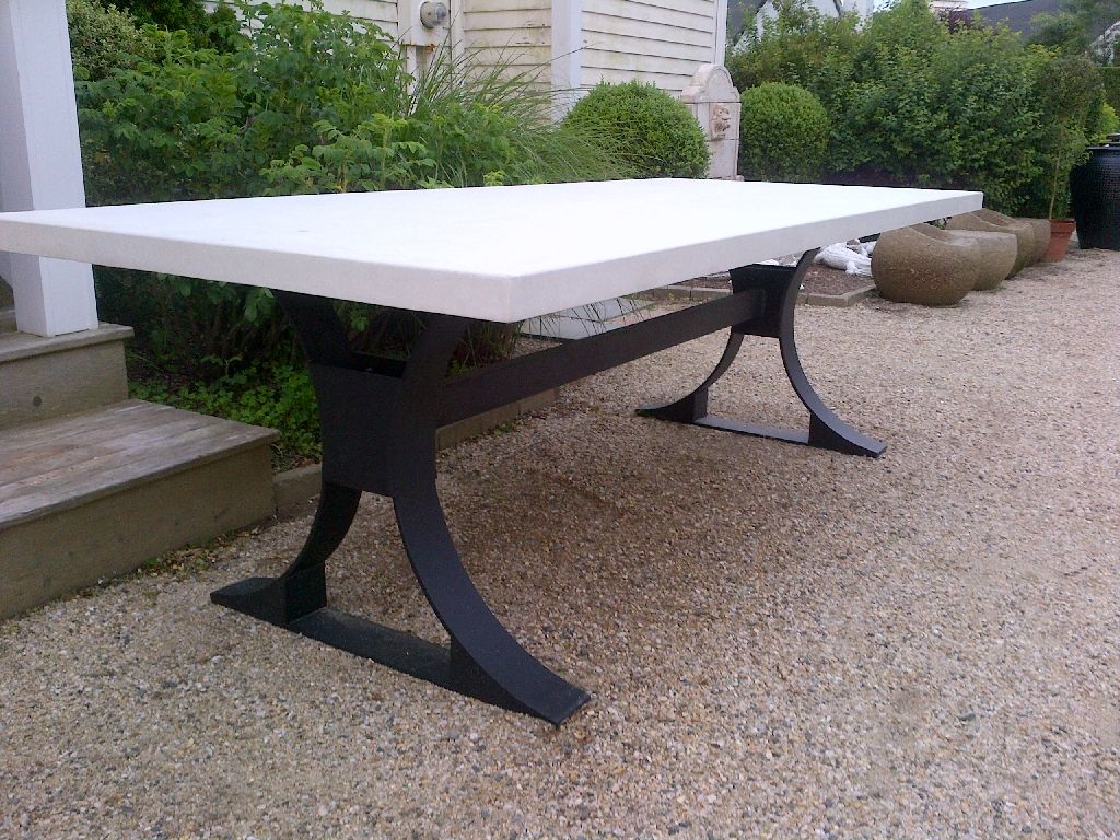 metal base dining table. Modern Metal Base Concrete Top Table Dining