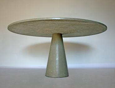 Interlocking Round Concrete Table