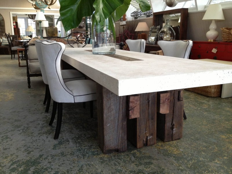 Suma Outdoor Cast Stone Dining Table Mecox Gardens