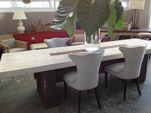 Suma outdoor cast stone dining table mecox suma outdoor cast stone dining table workwithnaturefo