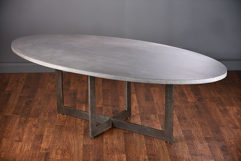 Xander Oval Lava Stone Dining Table
