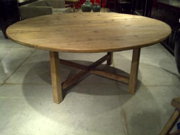 72 round dining table lazy susan rustic 72u2033 round pine dining table 72