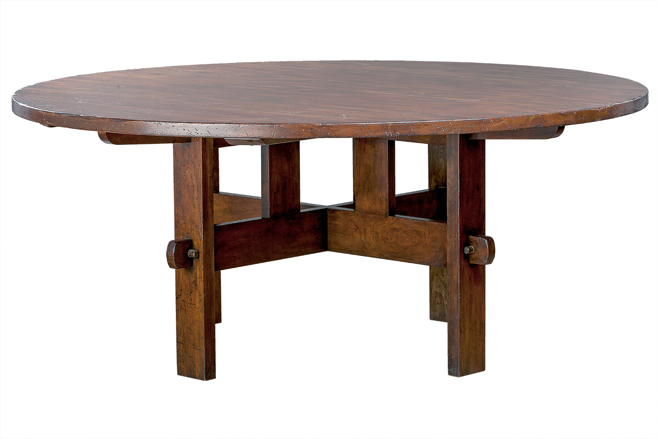 Mission Round Table.Round Oak Mission Dining Table Mecox Gardens
