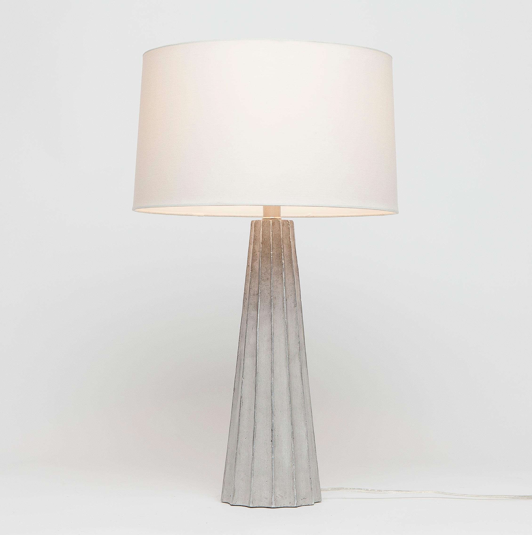 concrete table lamp. Estelle Concrete Table Lamp T