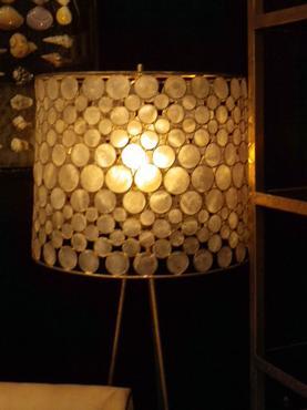 Serena Capiz Shell Drum Floor Lamp Mecox Gardens