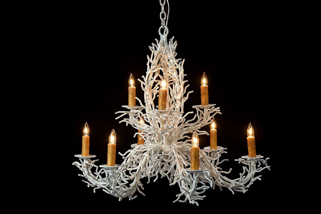 Faux coral chandelier mecox faux coral chandelier aloadofball Gallery