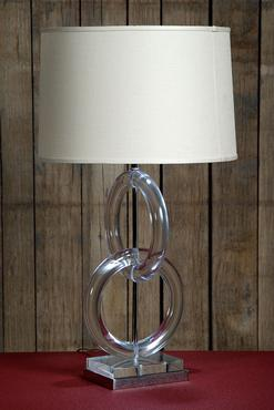 Superieur Barron Lucite And Nickel Table Lamp