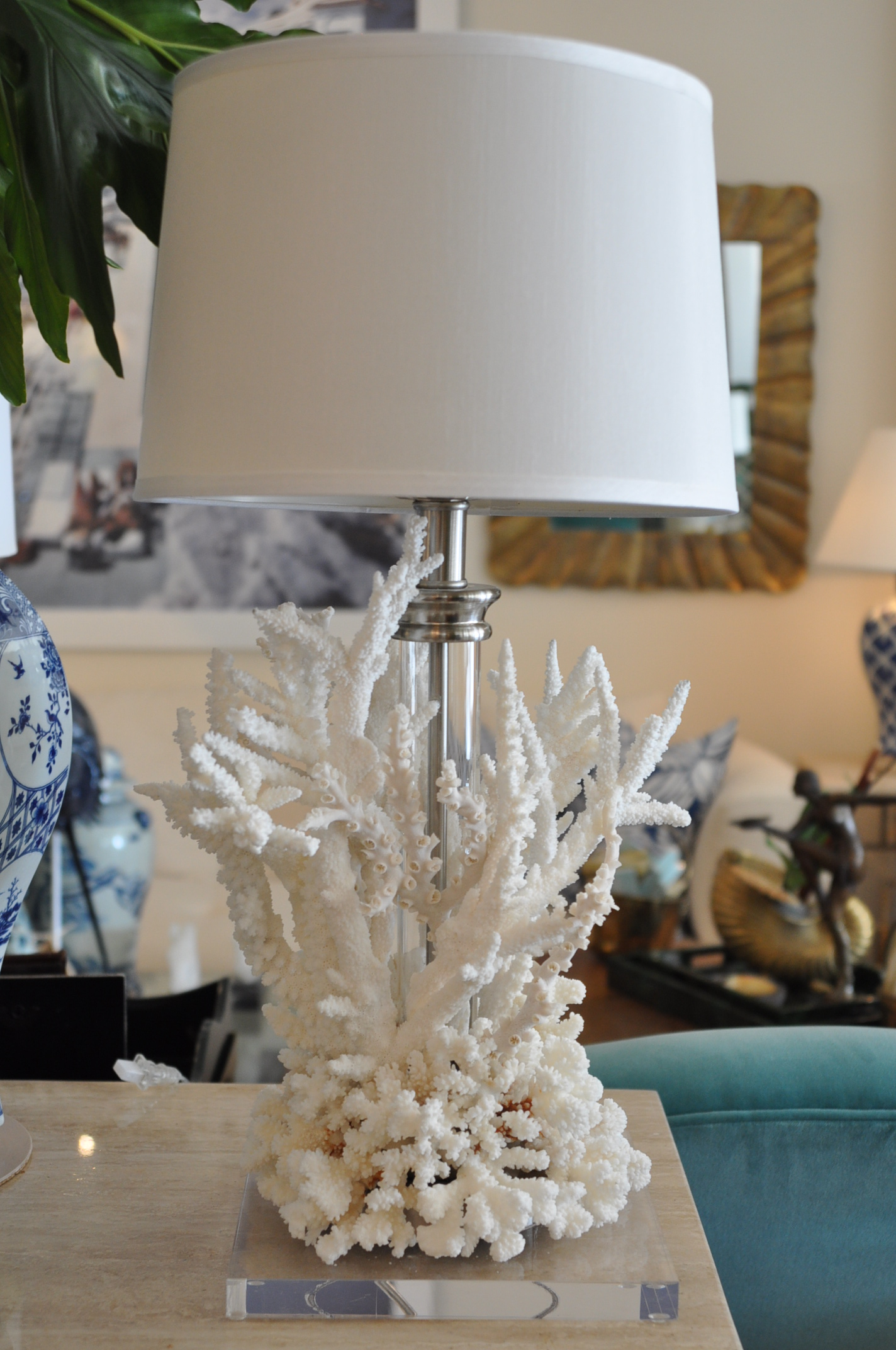 Coral base table lamp mecox gardens aloadofball Images