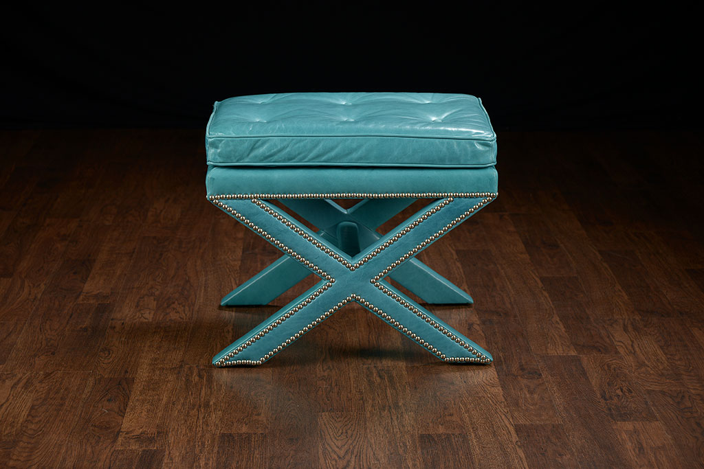 Miraculous X Base Ottoman With Caribbean Leather Mecox Gardens Beatyapartments Chair Design Images Beatyapartmentscom