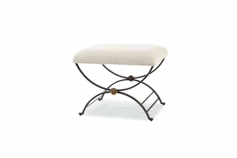 Saussy Ottoman With Upholstered Seat Mecox Gardens
