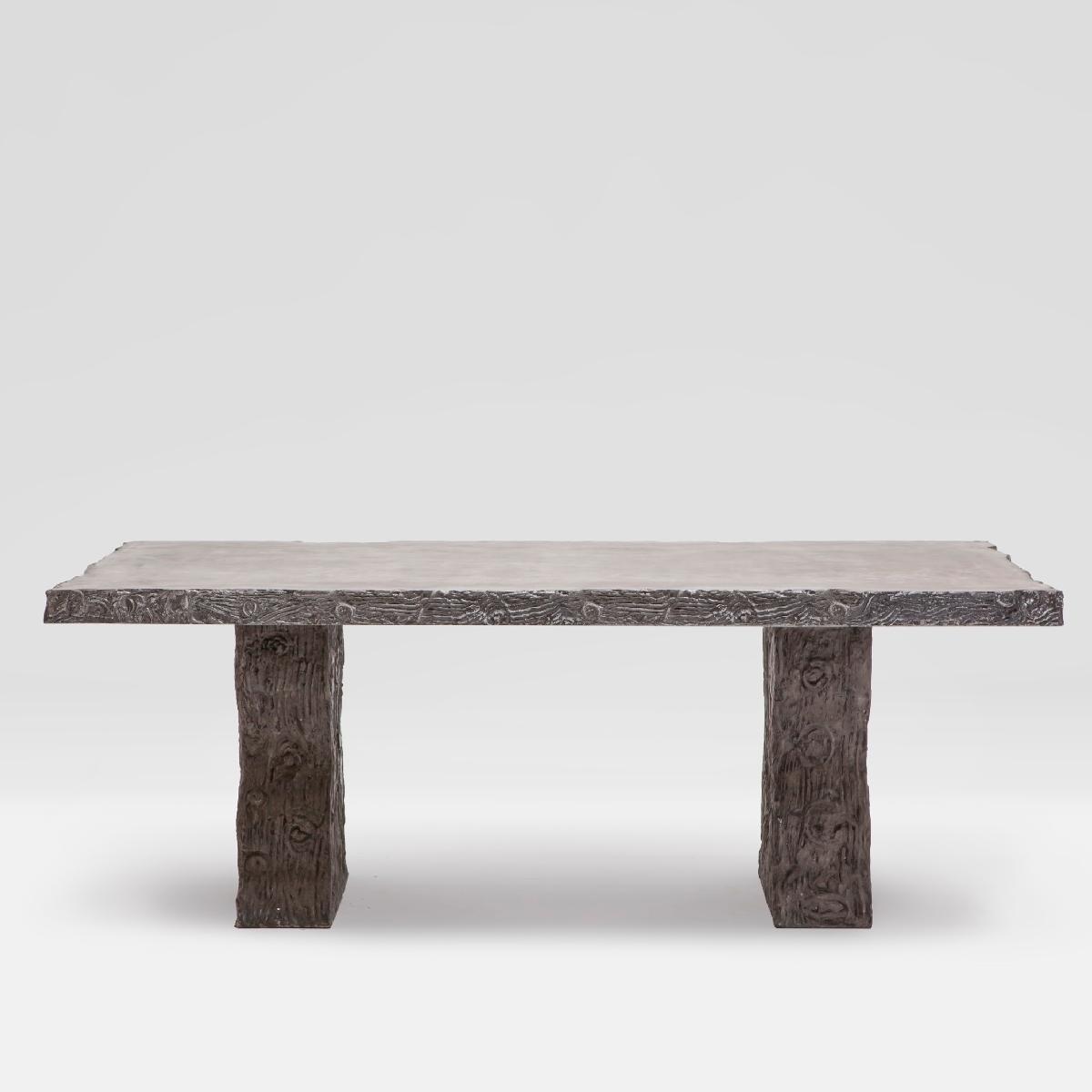 concrete outdoor dining table. Faux Bois Outdoor Concrete Dining Table U
