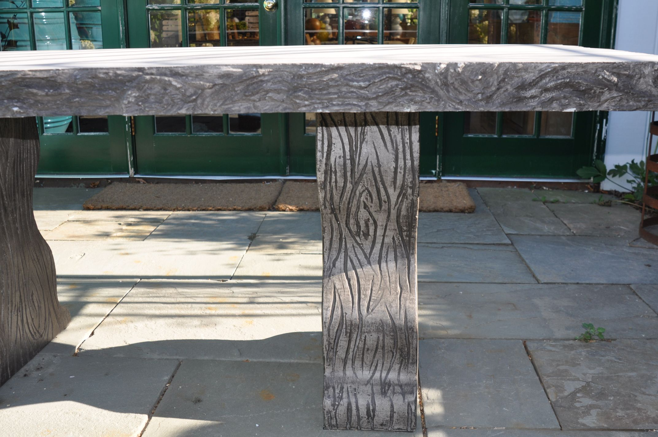 Faux Bois Outdoor Concrete Dining Table