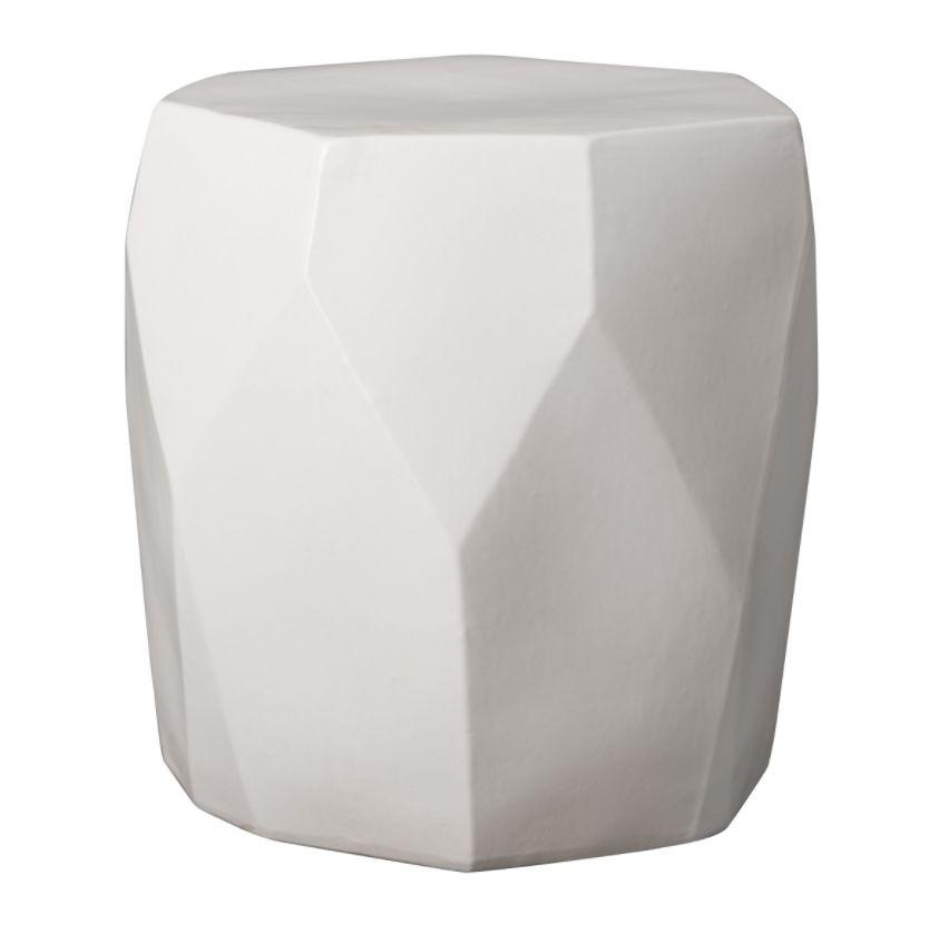 Superb Facet Ceramic Garden Stool Mecox Gardens Ibusinesslaw Wood Chair Design Ideas Ibusinesslaworg