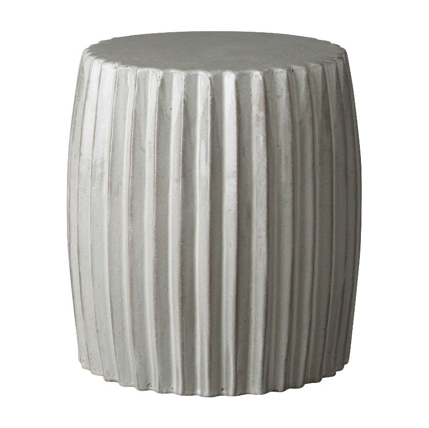 Ceramic Pleated Garden Stool Mecox Gardens