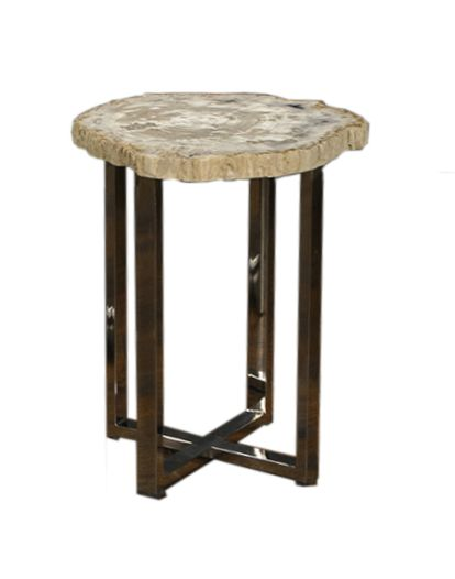 Super Narrow Petrified Wood Side Table Mecox Gardens Gmtry Best Dining Table And Chair Ideas Images Gmtryco