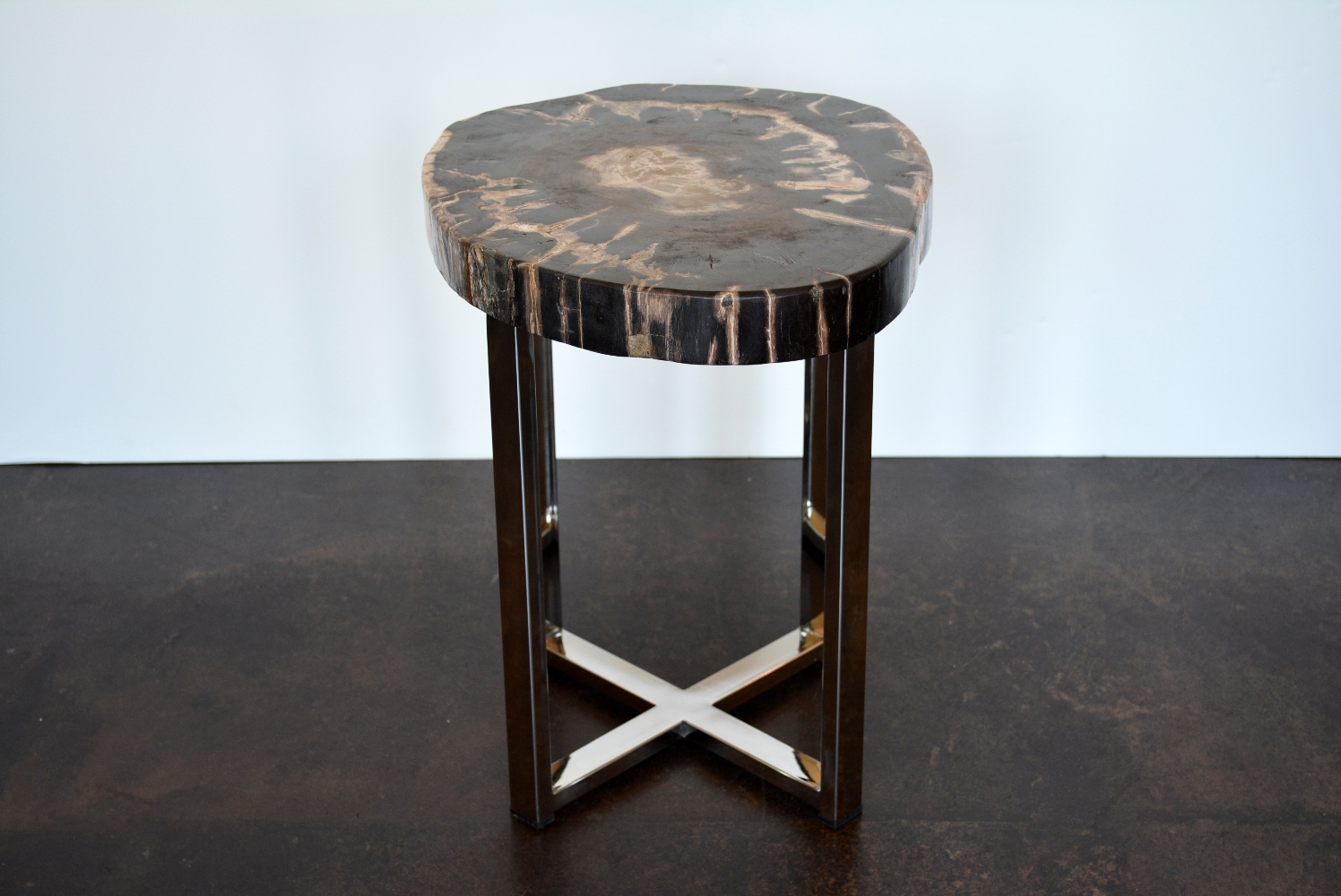 Remarkable Narrow Petrified Wood Side Table Mecox Gardens Gmtry Best Dining Table And Chair Ideas Images Gmtryco