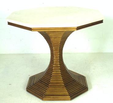 Charmant Hourglass Octagonal Pedestal Table