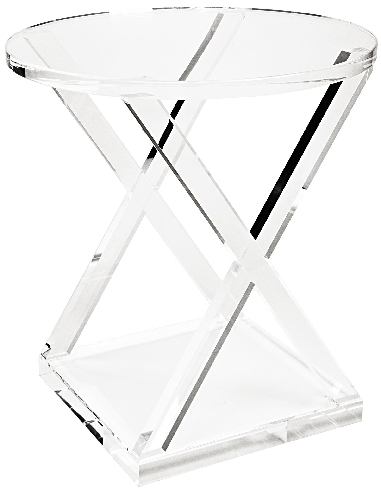 Aussie Acrylic X Side Table