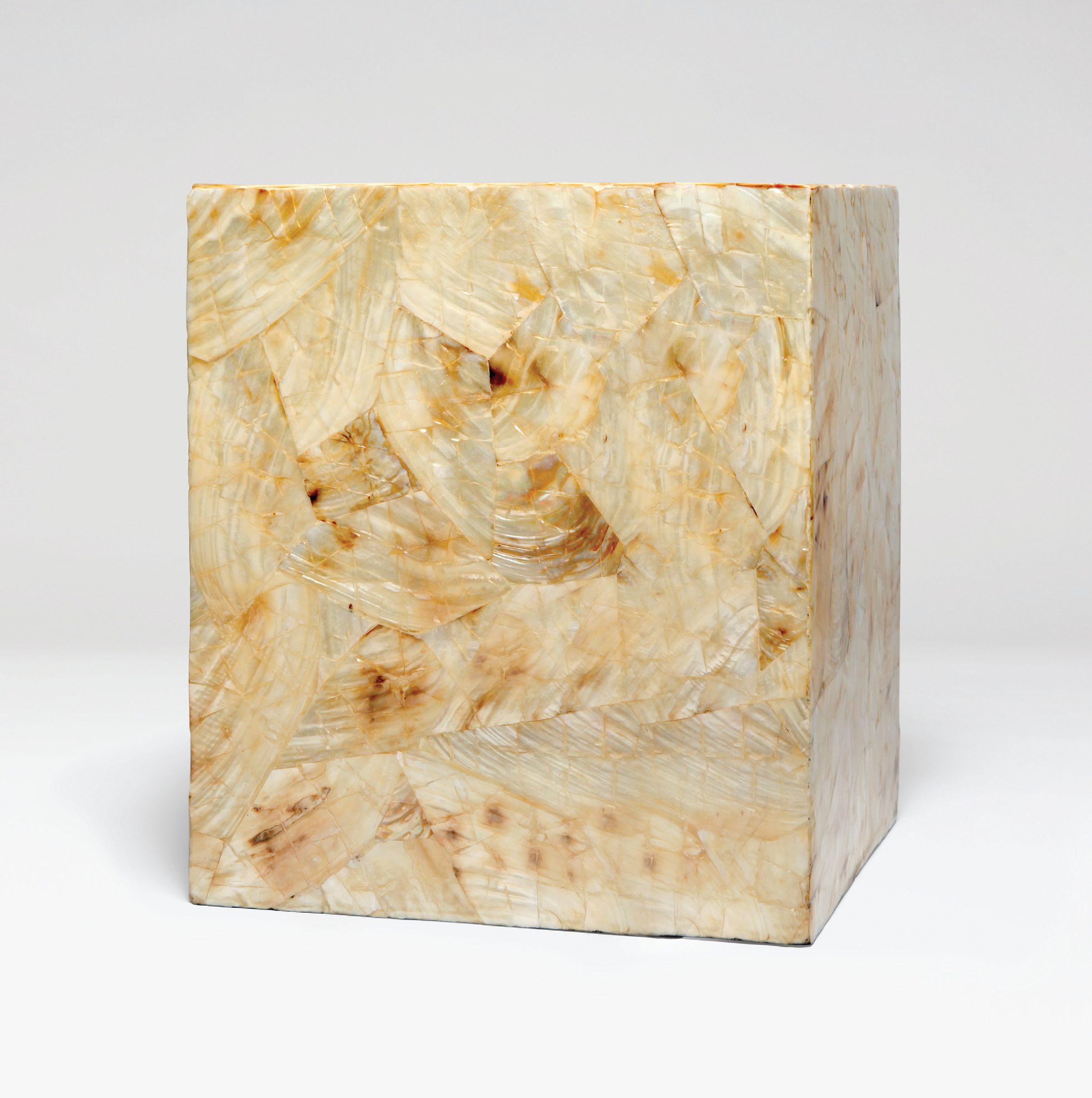 Mother of Pearl Cube Side Table - Mecox Gardens