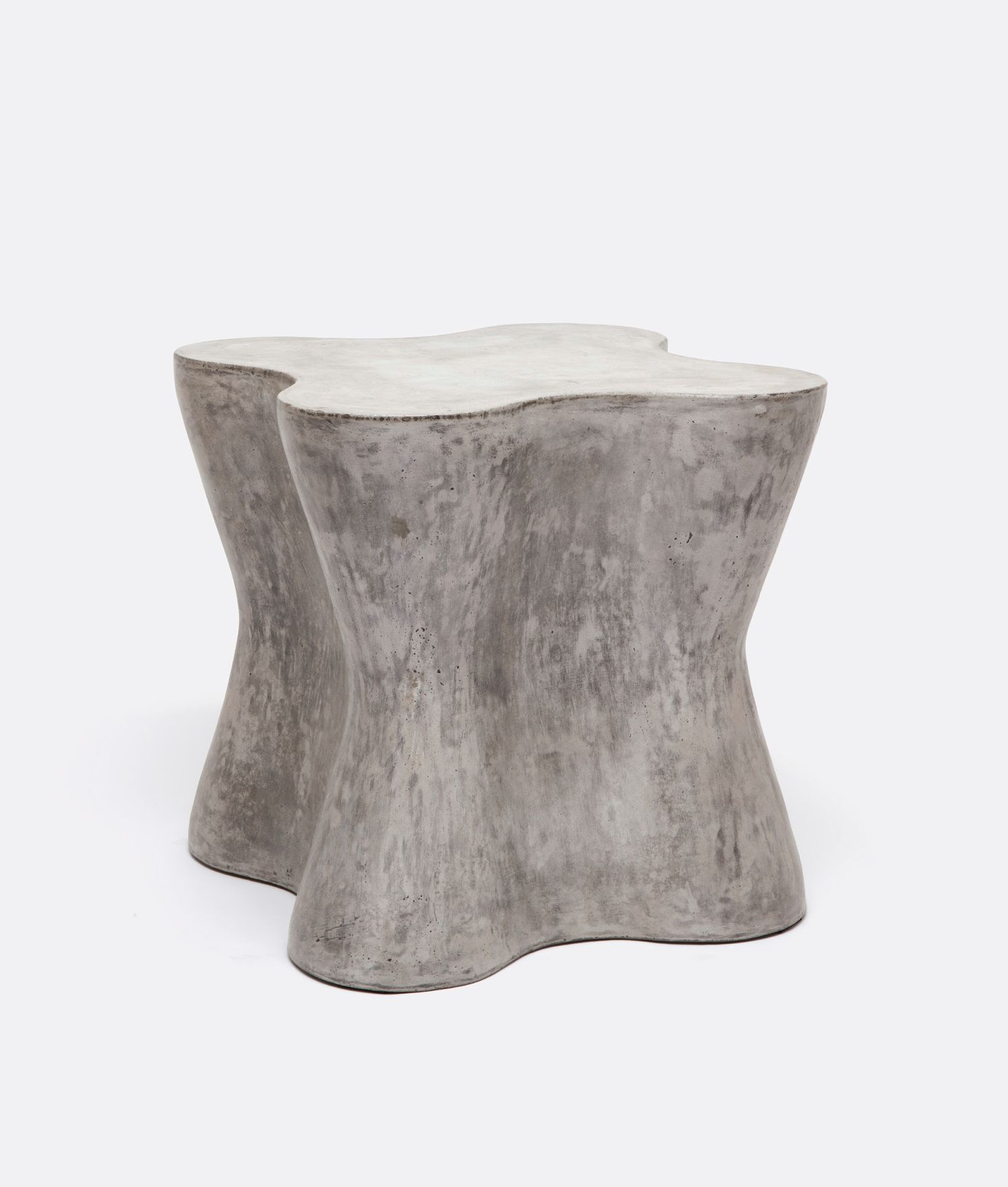concrete side table. Outdoor Large Arbre Concrete Side Table