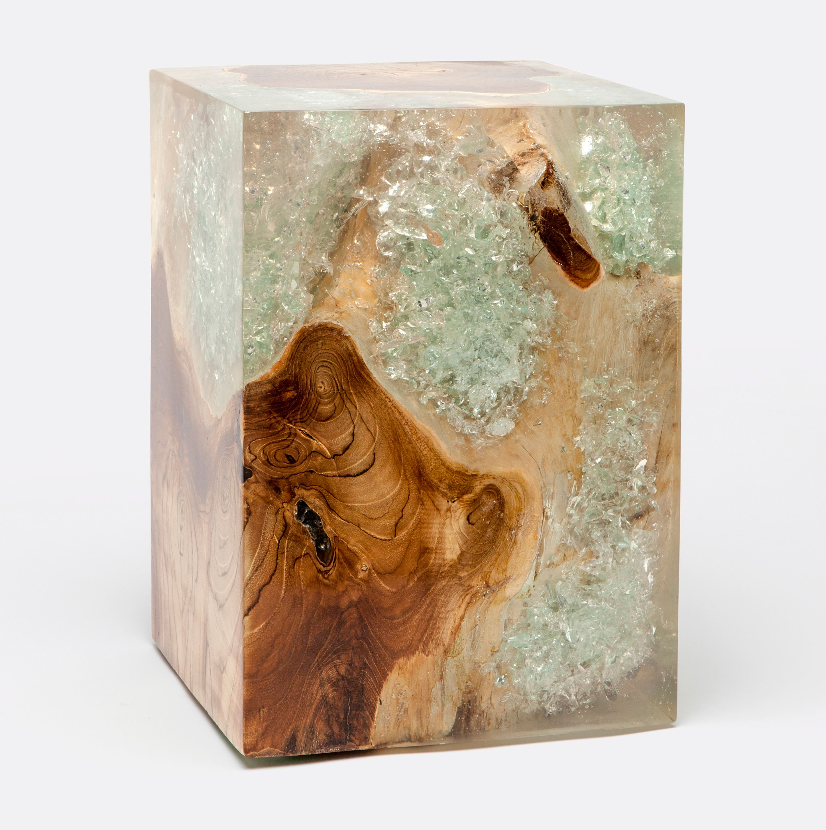 Ori Wood And Resin Side Table