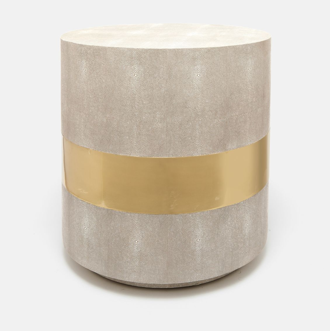 Rehm Faux Shagreen Side Table