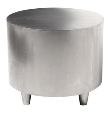 new concept cca92 a6a12 Bruno Metal Drum Side Table - Mecox Gardens