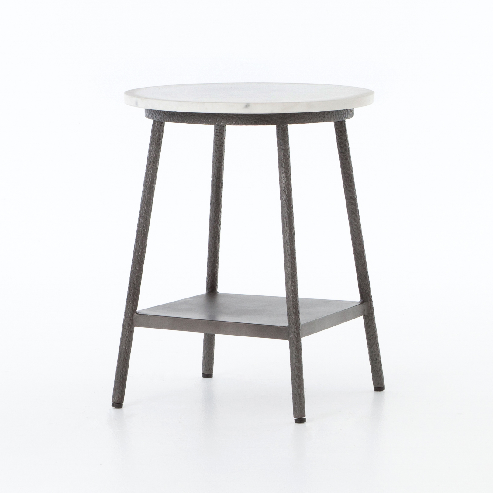 Marble And Hammered Metal Side Table Mecox Gardens