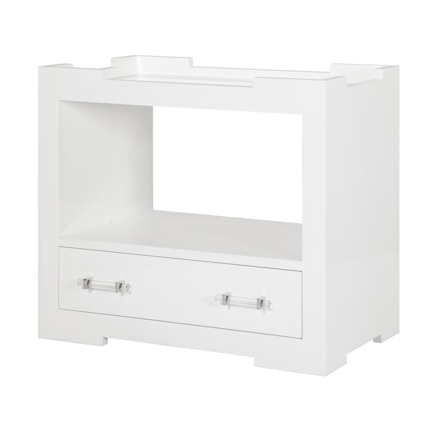 Exceptionnel Mira White Lacquer Side Table