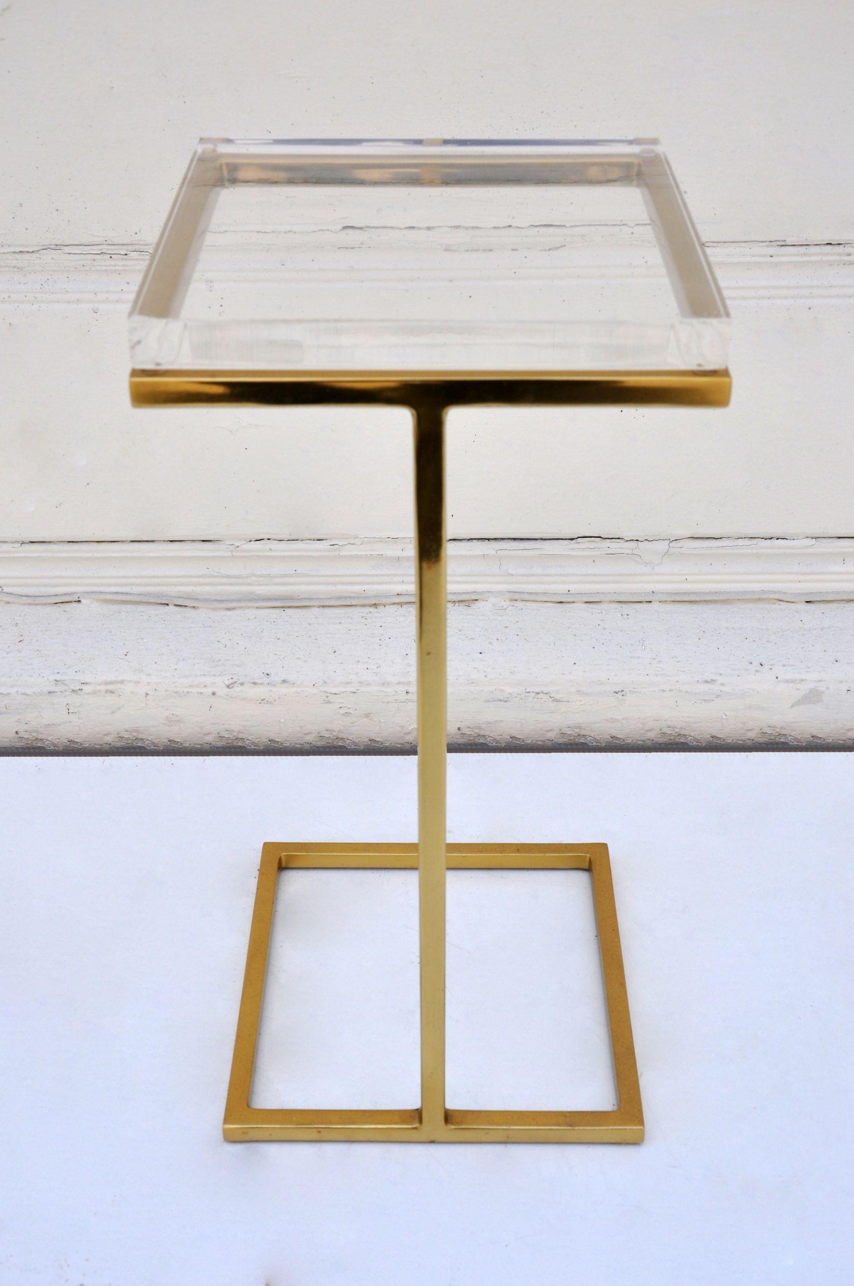 Acrylic Martini Side Table