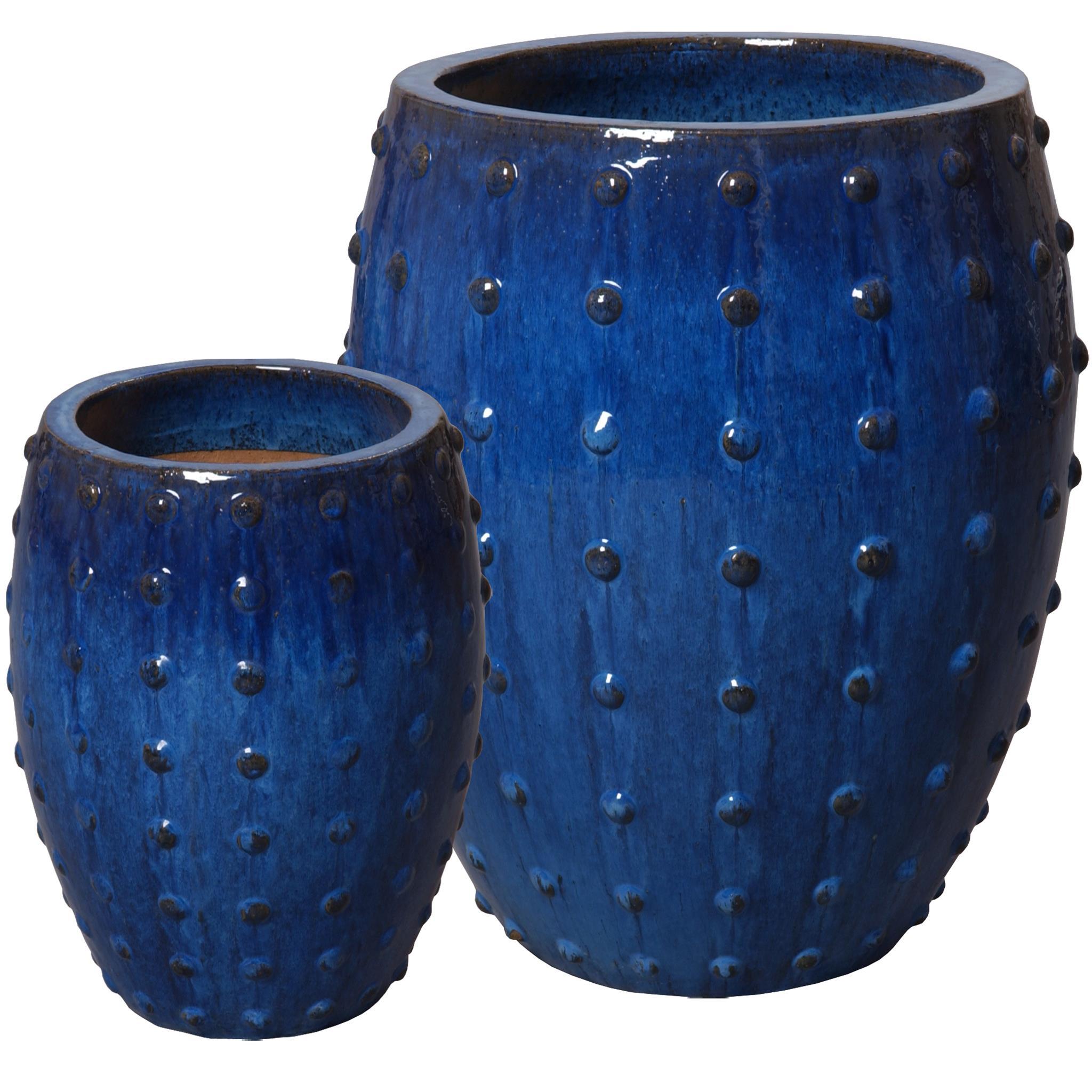 Charmant Studded Blue Planters
