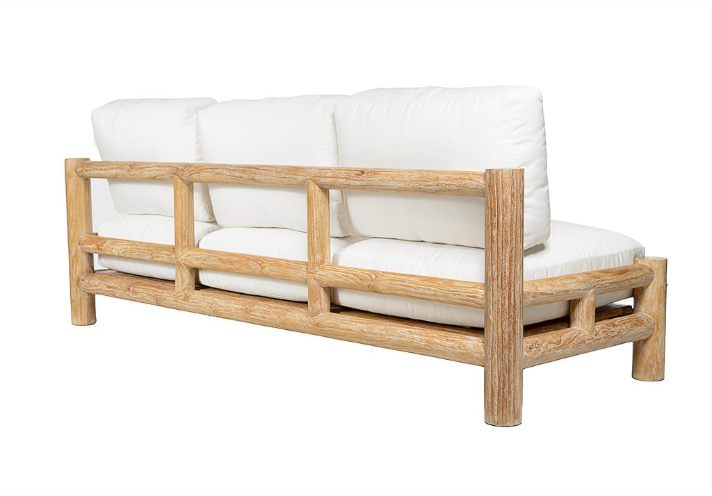 Mediterranean Teak Lounge Sofa Mecox Gardens